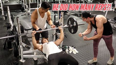 How Many Reps For Bench Press 135lb bench press rep challenge part 2 how many reps