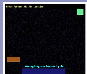Honda Foreman 450 Vin Location  Wiring Diagram 17465