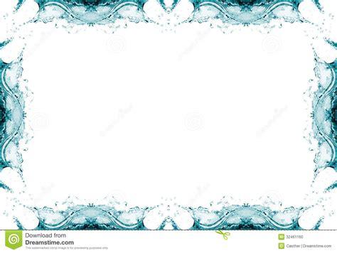 water frame splash background stock photo image
