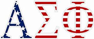 alpha sigma phi american flag greek letter sticker 25 With alpha sigma alpha letters