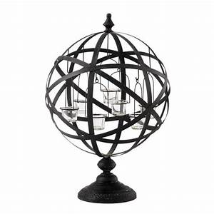 Kerzenhalter Schwarz Metall : kerzenhalter copernic aus metall h 60 cm schwarz maisons du monde ~ Sanjose-hotels-ca.com Haus und Dekorationen