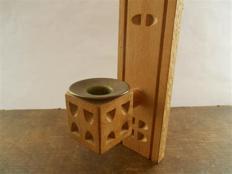 Wooden Wall Candle Holder Handmade Wall Sconce By Tastevintage
