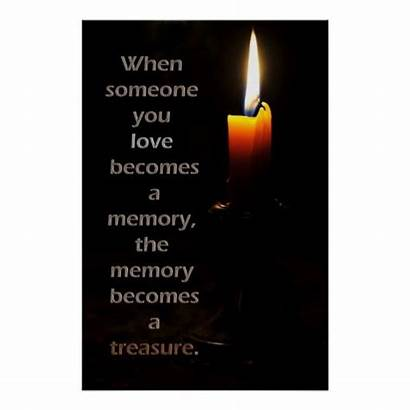 Candle Remembrance Quotes Poster Anniversary Heaven Dad
