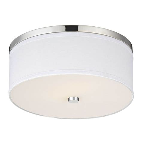 drum shade ceiling light polished chrome ceiling light with white drum shade ebay