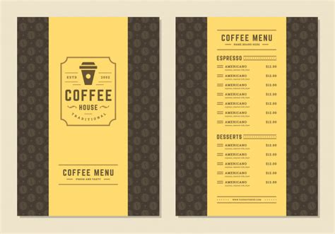 But please be patient and check back as we post we offer free consultations for your event/needs and will plan the menu and everything from there. Coffee menu template design flyer for bar or cafe with ...