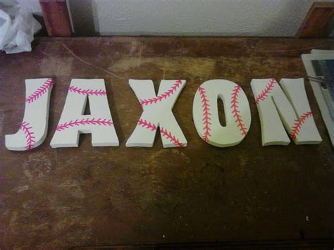 blogging mommy baseball wall letters
