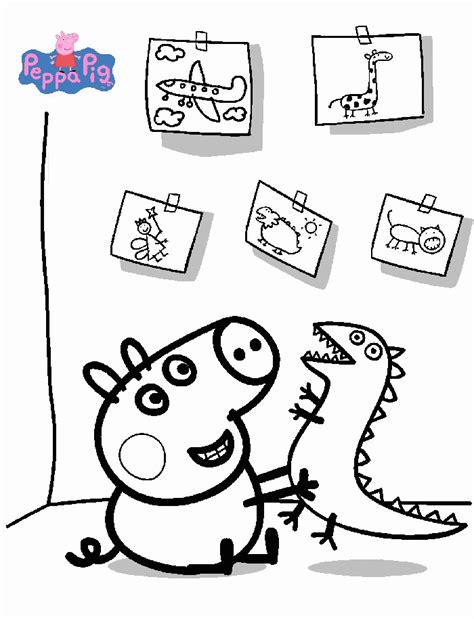 Coloring Peppa Pig by Peppa Pig Coloring Pages Coloringpagesabc