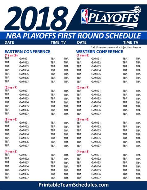 nba game schedules finals  playoffs
