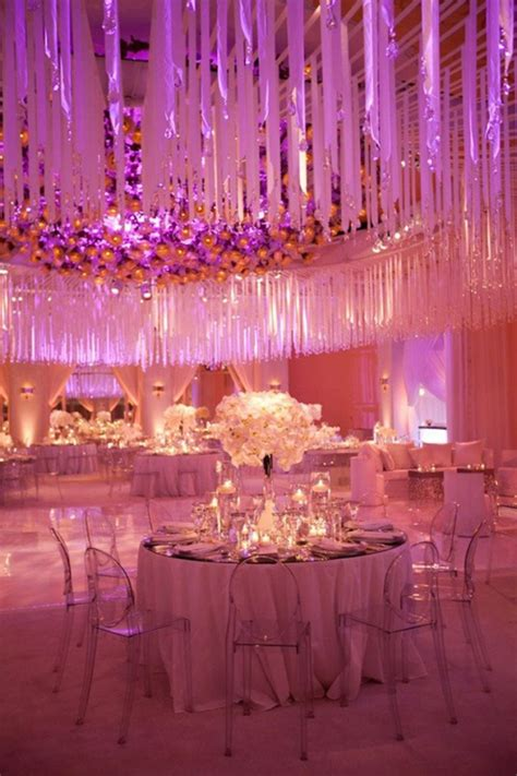 picture  pink  purple hanging wedding decor ideas