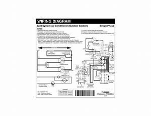 Wiring Diagram Single Phase Split System Air Conditioner