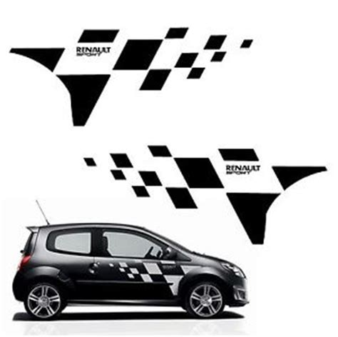 kit stickers twingo rs ref 121 damier de porte renault sport autocolant tuning ebay
