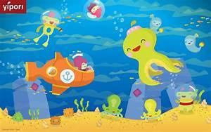 Underwater Cartoon Wallpaper