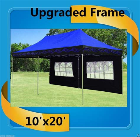 pop  canopy party tent ez blue flame  model upgraded frame ebay