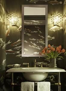 Tapeten Badezimmer Beispiele : 20 deko ideen f rs badezimmer dekorative wandakzente und accessories ~ Markanthonyermac.com Haus und Dekorationen