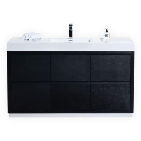 Modern Bathroom Single Sink Vanity by Bliss 60 Quot Single Sink Black Free Standing Modern Bathroom