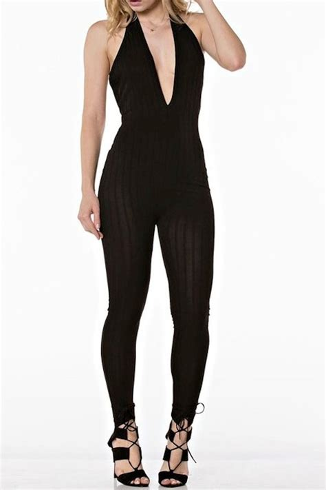 plunge jumpsuit delicious plunge jumpsuit from los angeles by