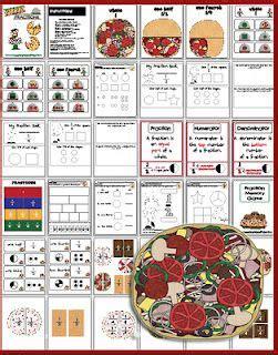 pizza fractions lesson plans printables