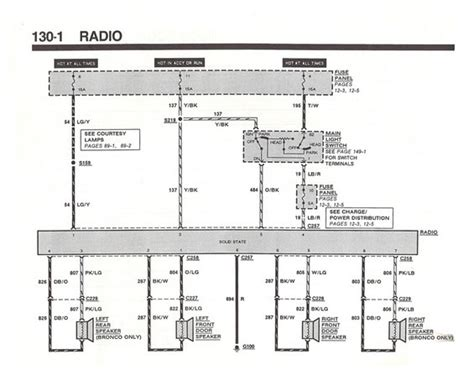 1987 Ford Stereo Wiring by 87 Bronco Radio Wiring Diagram And Possibly Whole