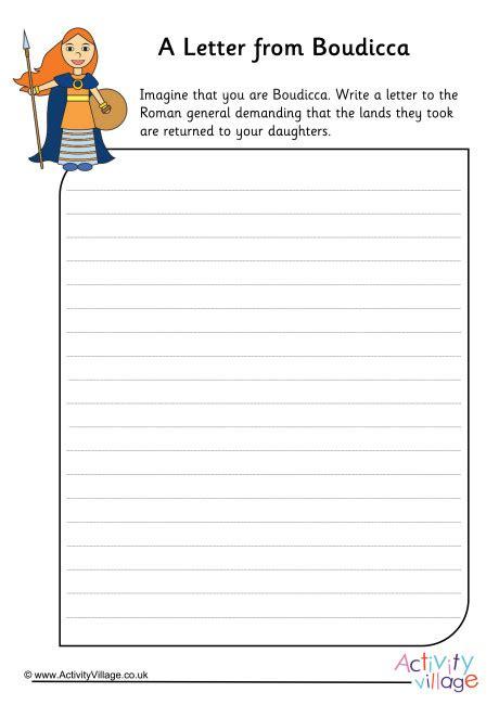 A Letter From Boudicca Worksheet