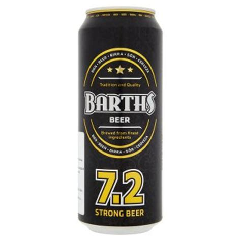 what light beer has the highest alcohol content barths beer with high alcohol content 0 5 l tesco groceries