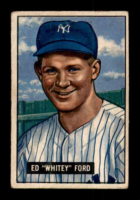 whitey ford rc hof  bowman baseball cards graded vgex