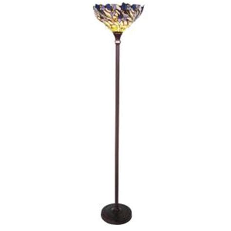 torchiere floor l home depot chloe lighting tiffany style iris 1 light torchiere floor