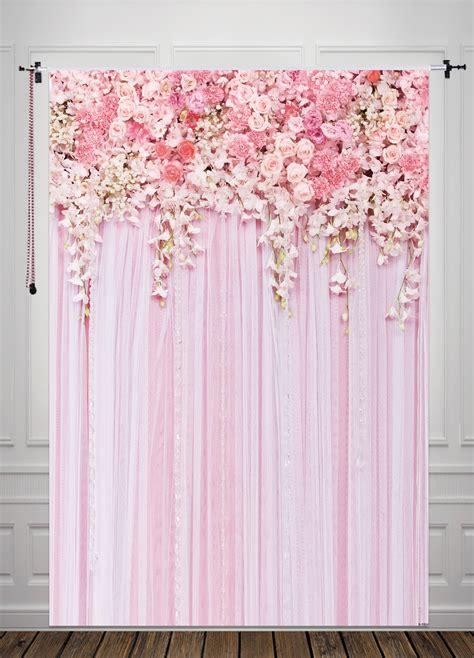 Diy Background Ideas by Huayi Pink Flowers Background For Wedding Newborn Backdrop