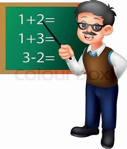 Teacher Math Cartoon Funny Standing Teaching Clipart