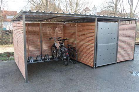 Garage Für Fahrrad  Fahrradunterstand Von Zaun Fackler