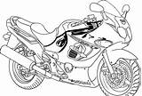 Coloring Bike Pages Suzuki sketch template