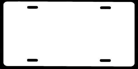 License Plate Template License Plate Template Cyberuse