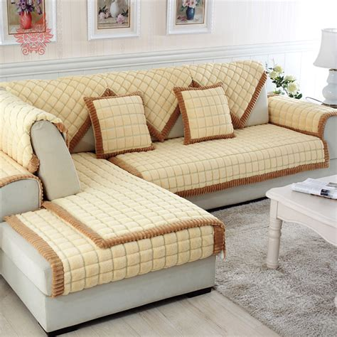plaid beige canapé popular sofa cover buy cheap sofa cover lots