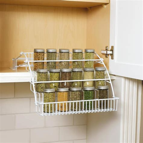 Wire Spice Rack by Rubbermaid Coated Wire In Cabinet Spice Rack At Lowes