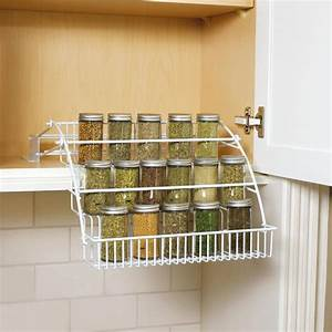 shop rubbermaid coated wire in cabinet spice rack at lowescom With kitchen cabinets lowes with candle dish holder