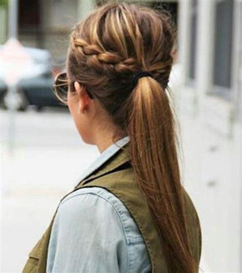 photo coiffure rapide et facile la queue de cheval customis 233 e
