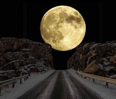 super moon winter nature background wallpapers