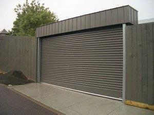 standing garage door fenceline roller doors rj