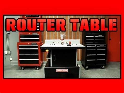 sears premium die cast aluminum router table craftsman router table youtube tools pinterest