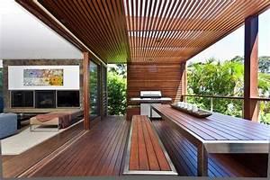 Holzplatten Für Balkon : balkon sichtschutz aus holz 50 ideen f r balkongestaltung ~ Frokenaadalensverden.com Haus und Dekorationen