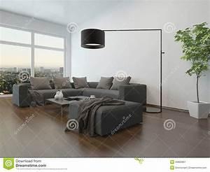 Graue Couch Wohnzimmer : wohnzimmer innenw graue couch und stehlampe stock ~ Michelbontemps.com Haus und Dekorationen