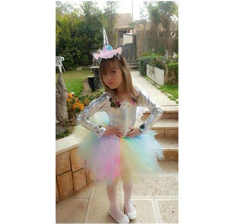 Disfraz De Unicornio Para Niña Con Tutu Talla 2 3 4 6 8 10