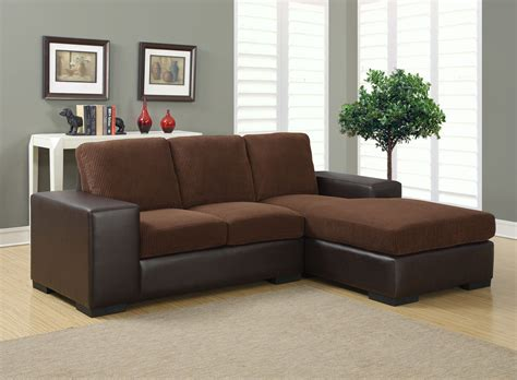 dark brown corduroy brown sofa sectional from monarch