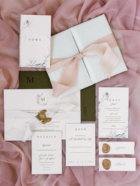 Luxury Blush Folio Wedding Invitation: part of Plush's