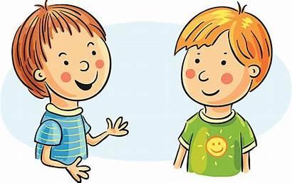 Talking Clipart Boys Cartoon Clip Vector Illustrations