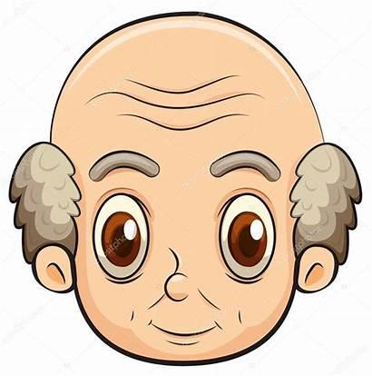 Bald Gubbe Careca Velho Head Clip Glatzkopf