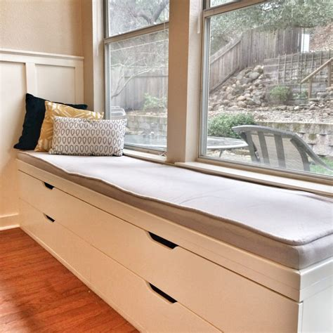 window bench cushions simple gray fabric window seat upholstery with golden