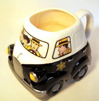 dick tracy police car coffee mug   mugs cups