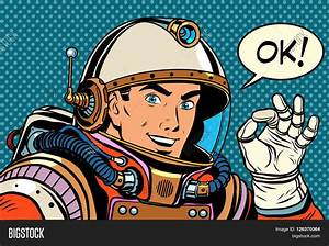 OK Astronaut Man Okay Gesture Well Vector & Photo | Bigstock