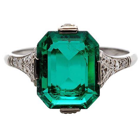 deco emerald engagement rings wedding promise engagement rings trendyrings