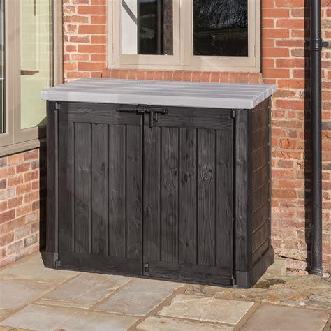 keter hideaway xl garden storage box anthracite
